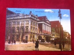 AK Polen Br�ssel Schweidnitzerstra�e Stadttheater Stra�enbahn Feldpost 1916