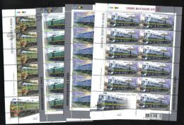 UKRAINE 2007 MNH - Sheets LOCOMOTIVES , RAILWAY , TRAINS, TRANSPORT ** SALE!!! - Ukraine