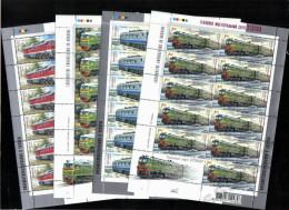 UKRAINE 2008 MNH - Sheets LOCOMOTIVES , RAILWAY , TRAINS, TRANSPORT ** SALE!!! - Ukraine