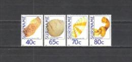 Suriname 1984 Tiere Animals Fauna Muscheln Shells Schnecken Snails Wildlife Natur Meerestiere, Mi. 1071-4 ** - Suriname