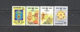 Suriname 1984 Organisationen Jugend Pfadfinder Scouting Scouts Jamboree Landkarten Lagerfeuer, Mi. 1094-7 ** - Suriname