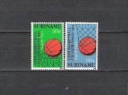 Suriname 1984 Milit�r Armee Sport Basketball-Weltmeisterschaften Ballspiele Spiele Korb K�rbe Netze, Mi. 1098-9 **