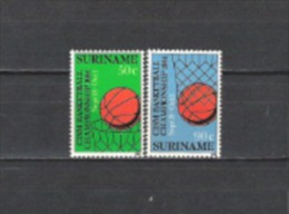 Suriname 1984 Militär Armee Sport Basketball-Weltmeisterschaften Ballspiele Spiele Korb Körbe Netze, Mi. 1098-9 ** - Suriname