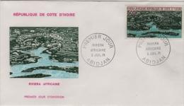 FDC Côte D´Ivoire  Riviera Africaine 1971 - Côte D'Ivoire (1960-...)