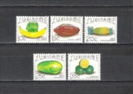 Suriname 1987 Pflanzen Plants Fr�chte Obst  Fruits Landwirtschaft Ern�hrung Banana Kakao Ananas Papaya, Mi. 1235-9 **