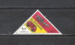 Suriname 1994 Organisationen Postgeschichte Amerika Postdienst Postbeförderung Eselskarren Postauto, Mi. 1496 ** - Suriname