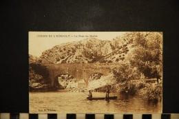 CP, 34, ANIANE Le Pont Du Diable Gorges De L'HERAULT Voyagé Ed G Vidalenc - Aniane