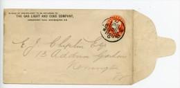 GB Postal Stationery Envelope STO ES18 + Private Overprint London Hornsey 3B Book Post Cancel (E150)