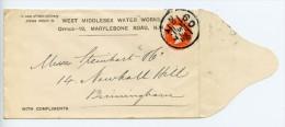 GB Postal Stationery Envelope STO ES18 + Private Overprint London Kilburn 60 Book Post Cancel (E151)