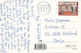 Solo Stamp Postcard - 27 April 1997 Riga Latvia Lettonie Lettland To Denmark