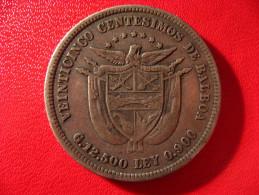 Panama - 25 Centimos De Balboa 1904 3962 - Panama