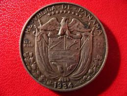Panama - Decimo 1/4 De Balboa 1934 3942 - Panama
