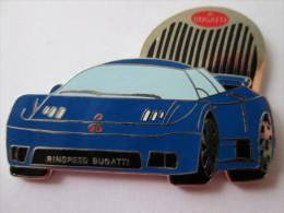Bugatti Pin Ansteckknopf Fahrzeug Blau - Pin's & Anstecknadeln