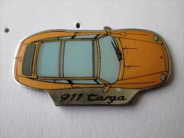 Porsche 911 Targa Pin Ansteckknopf Gelb - Porsche