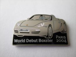 Porsche World Debut Boxster 2004 Pin Ansteckknopf Weiss - Porsche