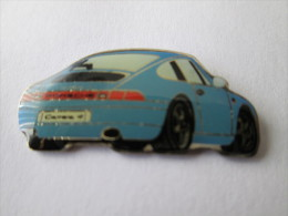 Porsche Carrera 4 Anstecknadel Blau - Porsche