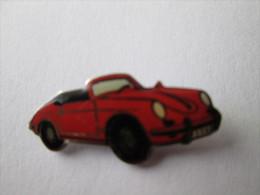 Porsche Cabrio Rot Anstecknadel - Porsche