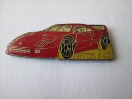 Ferrari F40 Pin Ansteckknopf Groß Rot - Ferrari