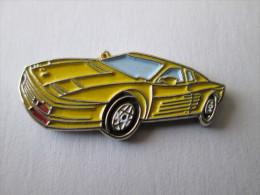 Ferrari Pin Ansteckknopf Fahrzeug Gelb - Ferrari