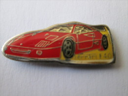 Ferrari F40 Pin Ansteckknopf Klein Rot - Ferrari