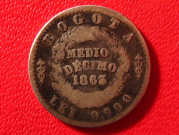 Colombie - Medio Décimo 1863 Bogota 4073 - Colombia