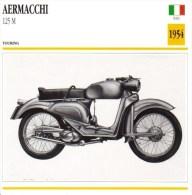 Aermacchi 125M   - 1954   -  Fiche Technique Moto (Italie) - Otros
