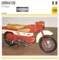 Aermacchi 175 Chimera   - 1958   -  Fiche Technique Moto (Italie) - Otros