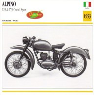 Alpino 125/175cm Grand Sport   - 1953   -  Fiche Technique Moto (Italie) - Otros