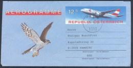 Austria Osterreich 1992 Aerrograme - Fauna Birds: Adler Aigle 鹰 Aquilla орёл Aguila;; Air - Adler & Greifvögel
