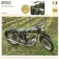 Benelli 250 4TNR Turismo   - 1939   -  Fiche Technique Moto (Italie) - Otros