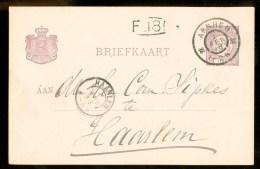 HANDGESCHREVEN BRIEFKAART Uit 1897 NVPH 33 VOORDRUK Van APELDOORN Naar HAARLEM ( 9831K) - Postal Stationery