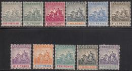 Barbados 1892-1903 Mint Mounted, Sc# 70-80, SG 105-115 - Barbados (...-1966)