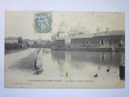 CASTELNAU  RIVIERE-BASSE  (Hautes-Pyr�n�es)  :  La  GALOPE  ,  ECOLE  et  CLOCHER   1903