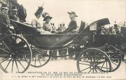 ROI De DANEMARK - CHRISTIAN X & REINE ALEXANDRINE - Réception à Paris Le 16 Mai 1914 - Cpa En Bel état. - Danemark