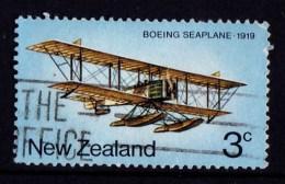 New Zealand 1974 Airmail Transport 3c Boeing Seaplane Used - - - New Zealand