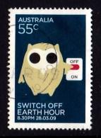 Australia 2009 Earth Hour 55c Switch Off Used - Gebraucht