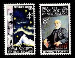 New Zealand 1967 Royal Society Centenary Set Of 2 Used - New Zealand