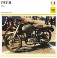 Ferrari 250cc   - 1955   -  Fiche Technique Moto (Italie) - Otros