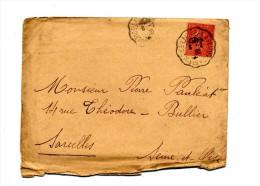 Lettre Cachet Saint Sulpice à Poitiers  Sur Semeuse - Postmark Collection (Covers)