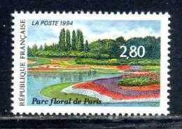N° 2909 Parc Floral De Paris 94 Neuf ** - France