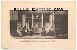 75 - PARIS 11 - 17, Rue De Charonne - BRASSERIE LOUIS +++++ Photo Boin ++++ 1915 +++++ RARE - District 11