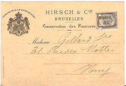 BRUXELLES 1901 HIRSCH CONSERVATION DES FOURRURES  BONT PELZEN Re697 - Magasins