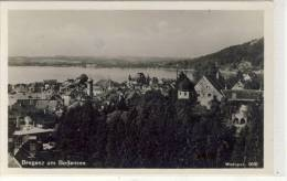 BREGENZ Am Bodensee - Panorama 1949,  Rote Trachtenmarke - Bregenz