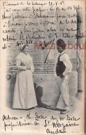 66 - PERPIGNAN  -  Types De Catalans - Couple - Dos  Précurseur - 1905 - 2 Scans - Perpignan