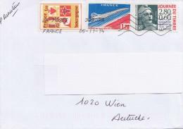 Frankreich - Schöne 3 Fach Frankierung Auf Brief - France