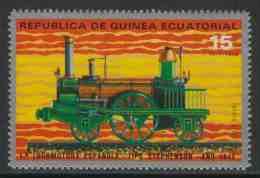 Equatorial Guinea / Guinee Equatorial 1972 Mi 152 Aero ** Steam Locomotive Spanish (1848) / Lokomotive - Eisenbahn - Eisenbahnen