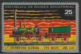 "Equatorial Guinea / Guinee Equatorial 1972 Mi 153 Aero ** Steam Locomotive ""Adler"" (1835) / Lokomotive - Eisenbahn - Treinen"