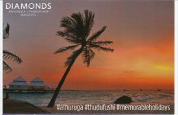 Diamonds Thudufushi Beach & Water Villas, Belle Carte Postale Non Circulée - Maldives