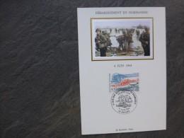 Guerre 39-45 Débarquement Normandie  CARTE  MAXIMUM Avec SOIE 1994 ; Ref019 PH03 - Cartes-Maximum