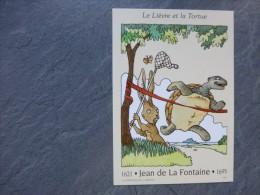Fables De LA FONTAINE Le Lièvre Et La Tortue CARTE  MAXIMUM 1995 ; Ref012 PH03 - Cartoline Maximum